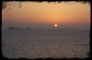 Sonnenuntergang über 2 Brüdern